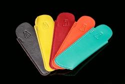 étuis cuir coloré pour couteau 12 cm